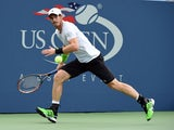 Andy Murray of Great Britian plays against Andrey Kuznetsov of Russia during their 2014 US Open men's singles match at the USTA Billie Jean King National Tennis Center on August 29, 2014