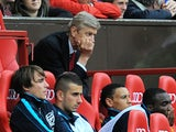 Arsenal's French manager Arsene Wenger looks on during the English Premier League football match against Manchester United on August 28, 2011