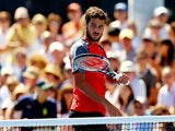 Feliciano Lopez of Spain looks on against Tatsuma Ito of Japan during their men's singles second round match on Day Five of the 2014 US Open at the USTA Billie Jean King National Tennis Center on August 29, 2014