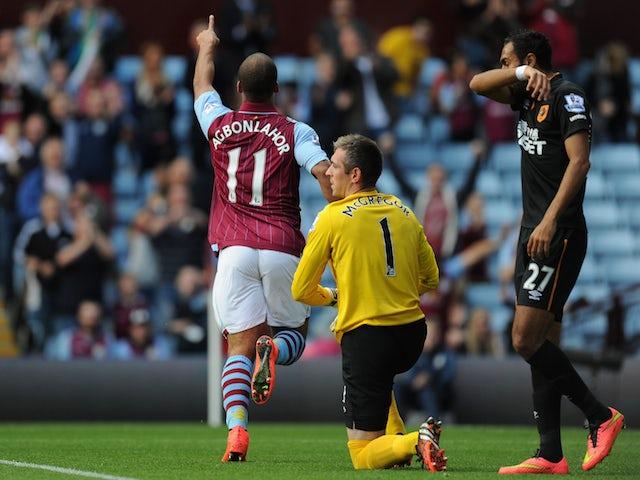 Result: Villa hold on against Hull