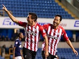 Jack Cork of Southampton celebrates after scoring to make it 1-0 during the Capital One Cup Second Round match against Millwall on August 26, 2014