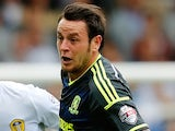 Lee Tomlin of Middlesbrough during the Sky Bet Championship match against Leeds United on August 16, 2014