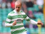Leigh Griffiths of Celtic controls the ball during the Scottish Premiership League Match between Celtic and Dundee United, at Celtic Park on August 16, 2014