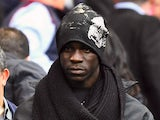 A close-up shot of new Liverpool signing Mario Balotelli at the Etihad on August 25, 2014