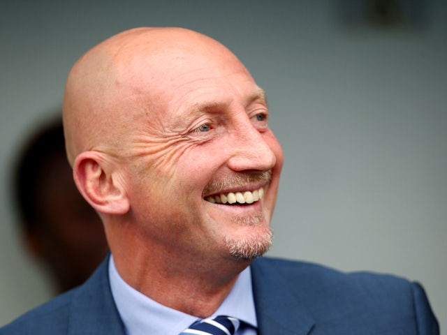 Ian Holloway, Manager of Millwall looks on ahead during the Sky Bet Championship match between Millwall and Blackpool at The Den on August 30, 2014