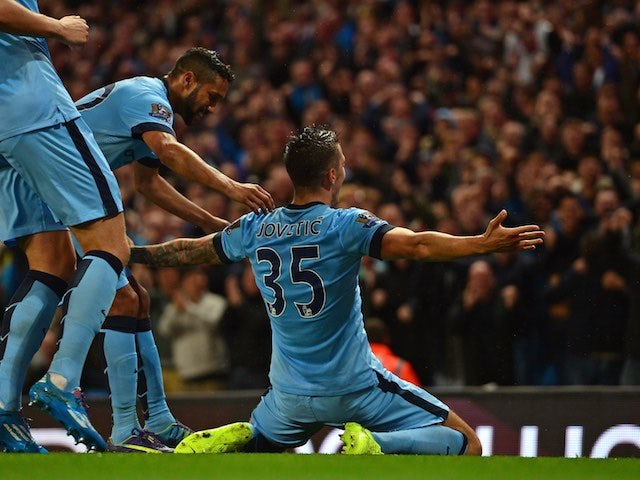 Result: Jovetic at the double for the champions