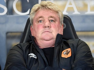 Steve Bruce manager of Hull City reacts during the Hull City v KSC Lokeren UEFA Europa League Qualifying Play-Off match at the KC Stadium on August 28, 2014