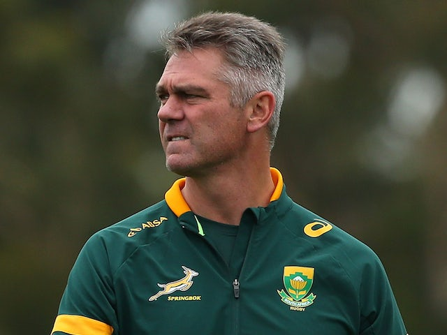 Head coach Heyneke Meyer looks on during a South African Springboks training session at Hale School on September 2, 2014