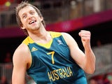 Joe Ingles #7 of Australia reacts after scoring against Great Britain during the Men's Basketball Preliminary Round match on Day 8 of the London 2012 Olympic Games on August 4, 2012