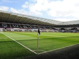 A general view of the stadium ahead of the Barclays Premier League match between Swansea City and Chelsea at the Liberty Stadium on April 13, 2014