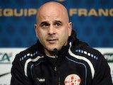 Georgia's national football team head coach Temuri Ketsbaia gives a press conference on March 21, 2013