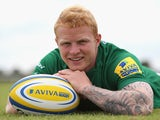 Tom Homer of London Irish poses at the photocall held on August 5, 2014