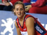 England's Tracey Neville in action during the third and final netball test against New Zealand on June 13, 2003