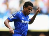 Loic Remy of Chelsea celebrates as he scores their fourth goal during the Barclays Premier League match between Chelsea and Swansea City at Stamford Bridge on September 13, 2014