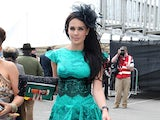 Danielle O'Hara attends the John Smith's Grand National - Ladies' Day at Aintree Racecourse on April 13, 2012