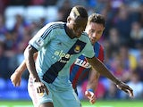 Diafra Sakho of West Ham in action during the Premier League match against Crystal Palace on August 23, 2014