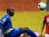 Florent Sinama Pongolle of FC Rostov during the Russian Premier League match between FC Spartak Moscow and FC Rostov at the Luzhniki Stadium on September 23, 2012