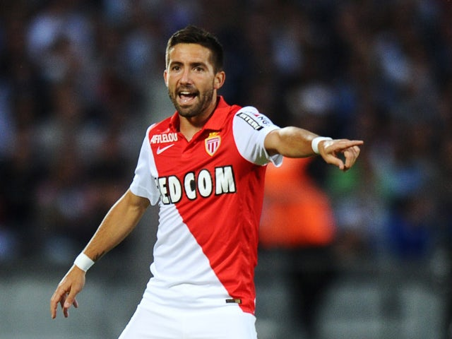 e973a4f7ae8 Monaco's Portuguese midfielder Joao Moutinho gestures during the French L1  football match between Bordeaux (FCGB