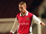 Liam Chilvers of Arsenal Youth in action during the Times FA Youth Cup Semi Final First Leg match against Middlesbrough Youth played at Highbury on March 21, 2000