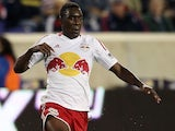 Lloyd Sam #10 of New York Red Bulls in action against Toronto FC at Red Bull Arena on September 29, 2012