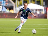 Stromsgodset IF's midfielder Martin Oedegaard runs with the ball during the football match Stromsgodset IF vs Stabaek IF on August 23, 2014