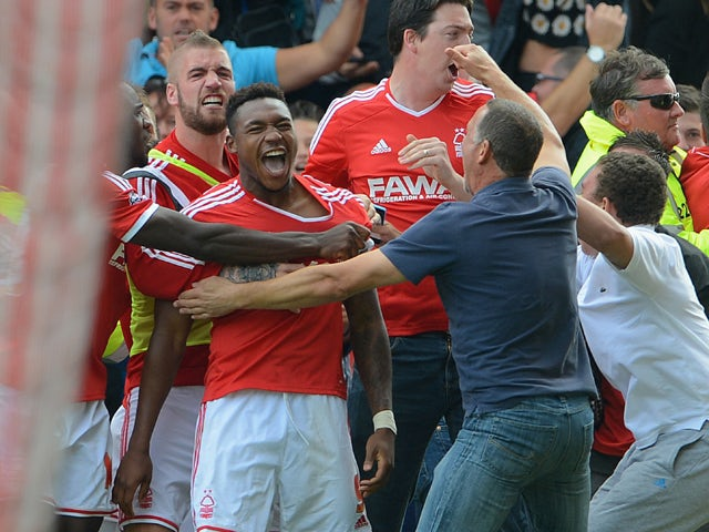 Result: Forest draw with 10-man Derby