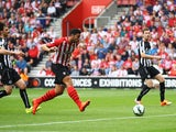 Graziano Pelle of Southampton scores their second goal during the Barclays Premier League match between Southampton and Newcastle United at St Mary's Stadium on September 13, 2014
