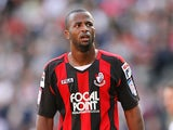 Stephane Zubar of AFC Bournemouth in action during the npower League One match between MK Dons and AFC Bournemouth at stadiummk on October 15, 2011