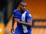 Tyrone Barnett of Peterborough United in action during the Sky Bet League One match between Port Vale and Peterborough United at Vale Park on October 12, 2013