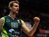 Unicaja's Slovenian guard Zoran Dragic reacts during the Euroleague group E basketball match Unicaja Malaga vs Anadolu Efes at the Martin Carpena sports hall in Malaga on March 7, 2014
