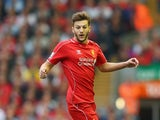 Adam Lallana of Liverpool in action during the Barclays Premier League match between Liverpool and Aston Villa at Anfield on September 13, 2014