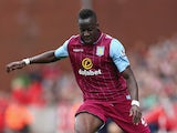 Aly Cissokho of Aston Villa in action during the Barclays Premier League match between Stoke City and Aston Villa at Britannia Stadium on August 16, 2014