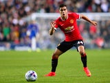 Andreas Pereira of Manchester United in action during the Capital One Cup second round match between MK Dons and Manchester United at Stadium mk on August 26, 2014