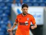 Anthony Wordsworth of Ipswich looks to attack during the Pre Season Friendly match between Colchester United and Ipswich Town at The Weston Homes Community Stadium on July 23, 2014