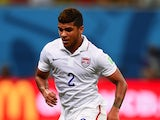 DeAndre Yedlin of the United States controls the ball during the 2014 FIFA World Cup Brazil Group G match between the United States and Portugal at Arena Amazonia on June 22, 2014