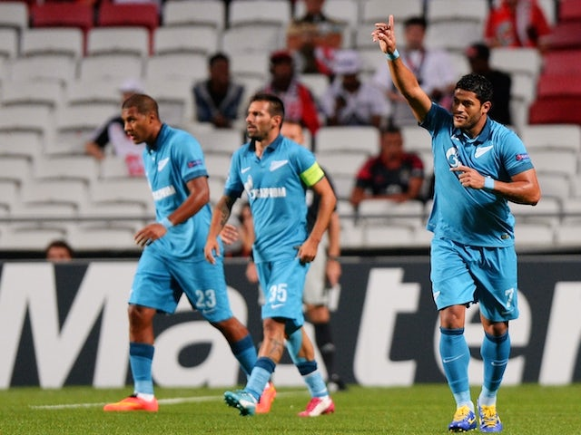 Result: Zenit ease to victory at Benfica