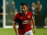 Luke Shaw #28 of Manchester United of the Guinness International Champions Cup 2014 Final at Sun Life Stadium on August 4, 2014