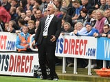 Alan Pardew manager of Newcastle United during Premier League Football match between Newcastle United and Hull City at St James' Park on September 20, 2014