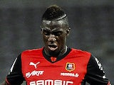 Rennes' Nigerian defender Onyekachi Apam during the French L1 football match between Toulouse and Rennes at the Municipal Stadium in Toulouse on October 26, 2013