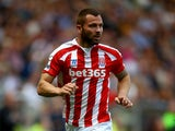 Phillip Bardsley of Stoke in action during the Barclays Premier League match between Hull City and Stoke City at the KC Stadium on August 24, 2014