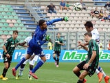 Andrea Consigli goalkeeperof US Sassuolo Calcio sves his goal during the Serie A match between US Sassuolo Calcio and UC Sampdoria on September 21, 2014