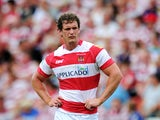 Sean O'Loughlin of Wigan Warriors looks on during the Tetley's Challenge Cup Semi-Final between Wigan Warriors and London Broncos at Leigh Sports Village on July 27, 2013