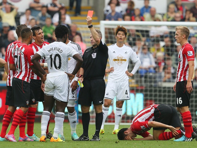Result: Wanyama guides Saints past 10-man Swansea