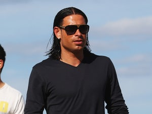 Tim Wiese of the German national team are sighted at the beach on June 19, 2012