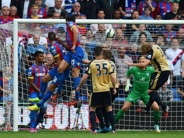 Mile Jedinak of Crystal Palace scores his team's second goal during the Barclays Premier League match between Crystal Palace and Leicester City at Selhurst Park on September 27, 2014