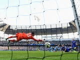 Frank Lampard scores for Manchester City against former club Chelsea in the Premier League on September 21, 2014