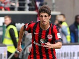 Frankfurt's Brazilian midfielder Lucas Piazon plays the ball during the German first division Bundesliga football match Eintracht Frankfurt v SC Freiburg at Commerzbank-Arena in Frankfurt am Main, Germany on August 23, 2014