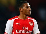 Isaac Hayden of Arsenal look down during the Capital One Cup Third Round match between Arsenal and Southampton on September 23, 2014