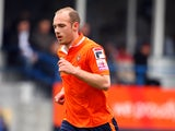Luton Town's Jake Howells in action during the Skrill Conference Premier match between Luton Town and Braintree Town at Kenilworth Road on April 12, 2014
