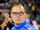 Marseille's Argentinian head coach Marcelo Bielsa is pictured during the French L1 football match Evian (ETG) against Marseille (OM) on September 14, 2014